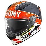 Suomy Speedstar Propeller - Casco de Moto Mate Anthr/Red, L