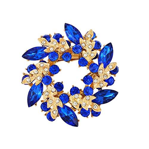 Kristallen Bloem Zijden Sjaal Broches Dames Pins goud, Broche speld Clip Gesp Strass Broche Geschenken