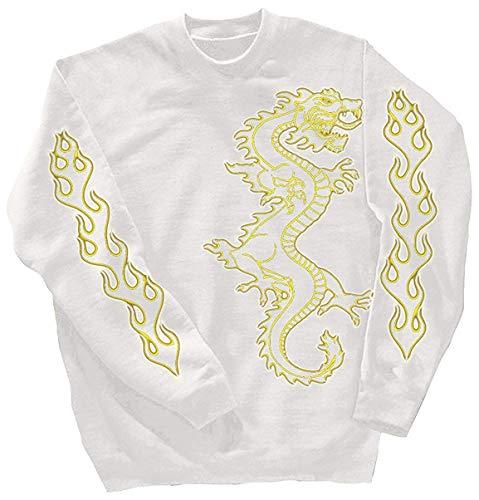 Fan-O-Menal Textilien Sweatshirt mit Print - Drache Drake - 10114 Gr. S-4XL Farbe weiß, Größe XXL