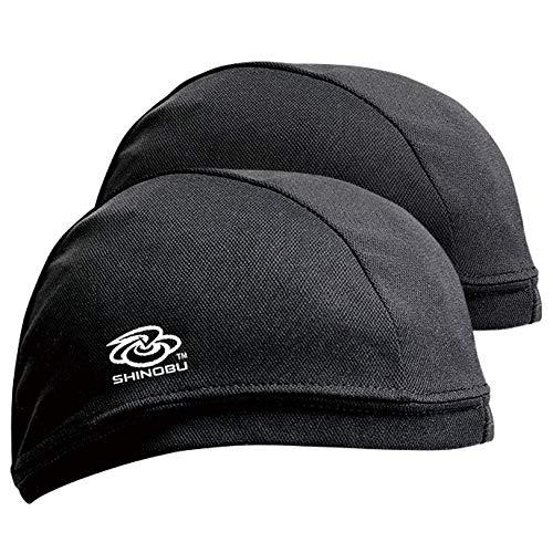 Shinobu Construction Coolmax 2-Packs Quick Drying Hard Hat Under Cap/Skull Cap/Beanie/Helmet Liner (Black) SC-008