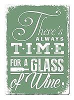 常にワインの時間ティンサイン壁鉄の絵レトロプラークヴィンテージ金属シート装飾ポスターおかしいポスター吊り工芸品バーガレージカフェホーム