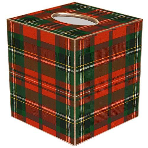 Marye-Kelley Christmas Tissue Box Cover Christmas Plaid Tissue Box CoverTB1243-
