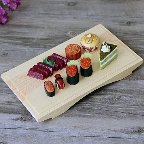 WFBD-CN Estaciones del Estilo de Japón Sushi Placa de Madera Vajilla envase de alimento Junta de Cocina Japonesa Cocina Comida Japonaise (Color : 42x27x3cm)