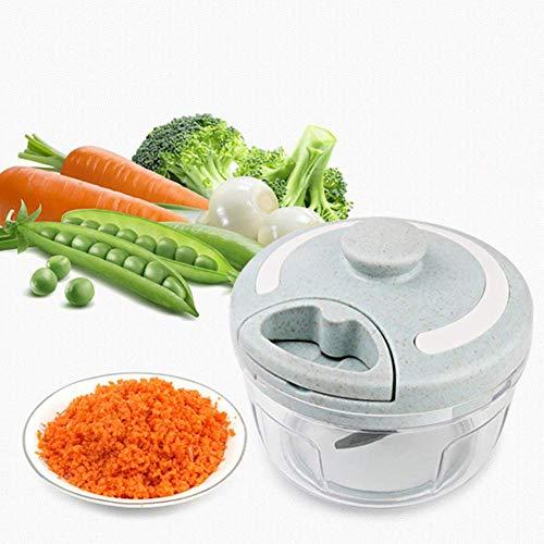 DYB picadora de Alimentos y licuadora, picadora de Verduras trituradora de camarones y ajo portátil portátil máquina de Cocina casera trituradora de Verduras máquina de cocinar, A