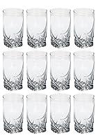 Somil New Design Beverage Tumbler Clear Transparent Drinking Glass Set of 12