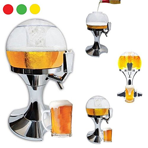 takestop® SPILLATORE Birra 3.5 Litri alla Spina Fresca EROGATORE BIBITE Bevande ALCOLICHE Dispenser DISTRIBUTORE Bicchiere Ghiaccio