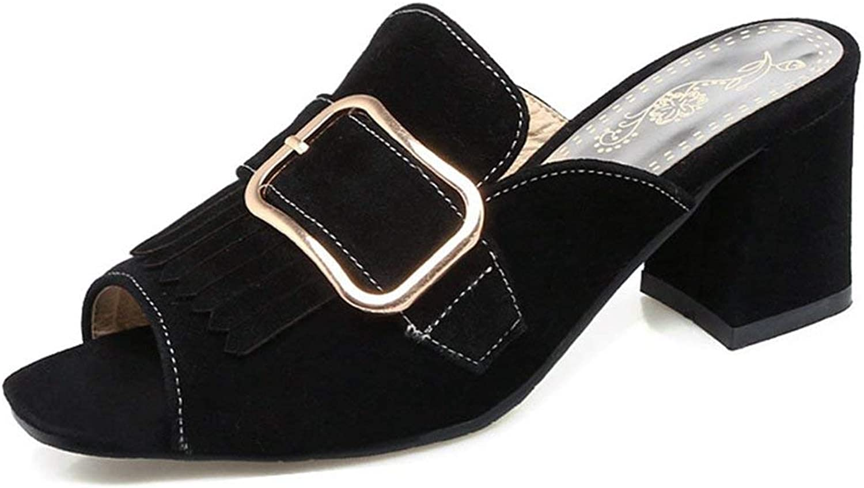 Bonrise Womens Block Heeled Slide Sandal Anti-Slip Slip On Summer Outdoor Chunky Heels Dress shoes