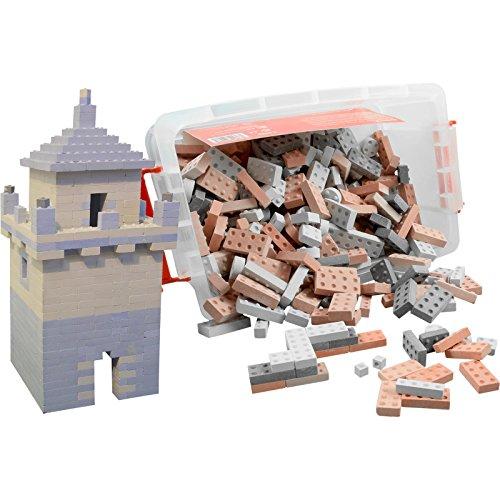 KINGSTONES Basisbox XL - Steinbaukasten aus Marmormehl ca 420 Teile Stein-Konstruktionsset