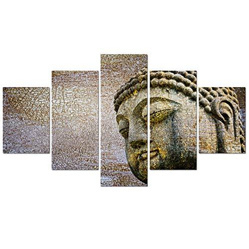 Siluyu Decoración De Pared Lienzo Sala De Estar Moderna Decoración del Hogar Figura De Buda Imágenes Pintura Arte De La Pared Cartel Impreso Modular Cuadrod Marco