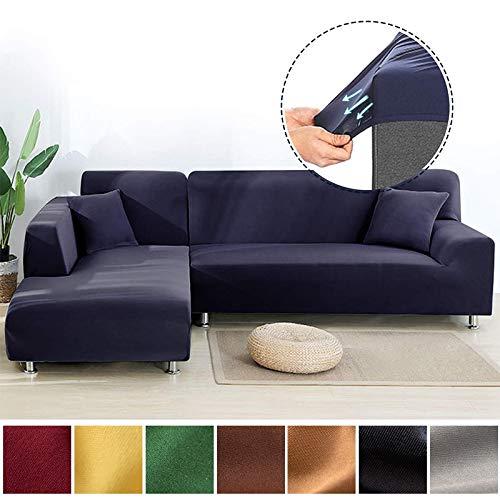 OKJK Soft Elastic Sofa überzug Ecksofa, Für Wohnzimmer Moderne Sofabezug Chaise Longue Bezug, L-förmige Sofaüberwurf Stretch (orange,Part B-B 90-140cm)
