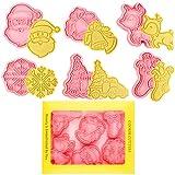 Orapink Weihnachtsplätzchen-Ausstecher-Set 6-teilige Kunststoff-Weihnachtsplätzchen-Briefmarken-Weihnachten Cartoon Spaß Keksformen.