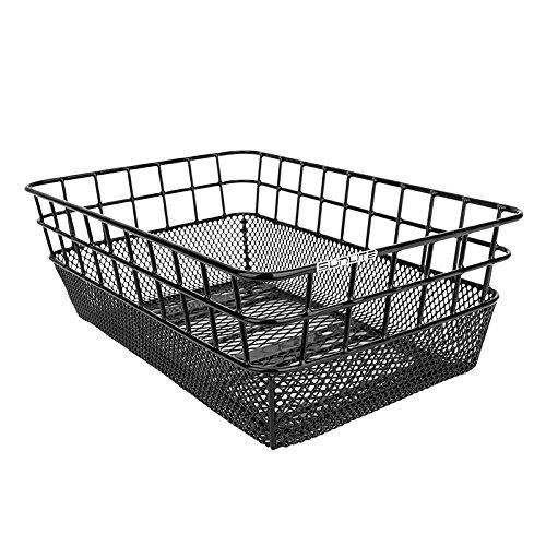 "Sunlite Rack Top Wire/Mesh Basket, 10.25 x 15 x 5"", Black"