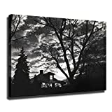 MINGYUE Scott Mutter Poster Subway House on Canvas Oil Painting Posters and Prints Decorations Wall Art Picture Living Room Wall Ready to Hang-127 (with Framed,20x27 inch)