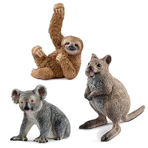 Wildlife Schleich 14823 Quokka + 14815 Koalabär + 14793 Faultier