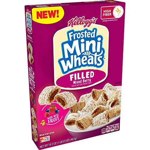 Kellogg#039s Frosted MiniWheats Filled Breakfast Cereal Mixed Berry 165oz Box