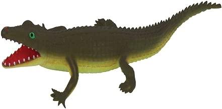 Rockin Gear Toy Rubber Alligator Toy for Kids - Squeeze Me Alligator - Squeeze The Gator to Hear it Squeal - Bathtub Toys (Dark Green)