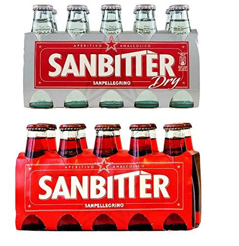 Sanbitter Aperitif Italien 10 x 100 ml + San bitter dry Weiss Aperitif Italien 10 x 100 ml