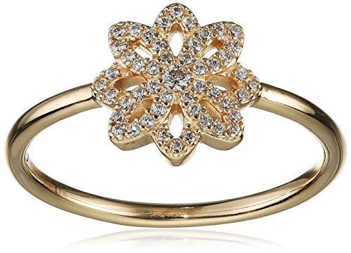 Pandora Damen-Ring Spitzen-Blüte 585 Gelbgold Zirkonia weiß Gr. 56 (17.8) - 150182CZ-56
