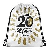 Yuanmeiju Drawstring Bag Sport Gym Sack Party Favor Bags Wrapping Gift Bag Mochila con cordón Storage Goodie Bags Cinch Bags Kamen Rider Kicks 20th Anniversary