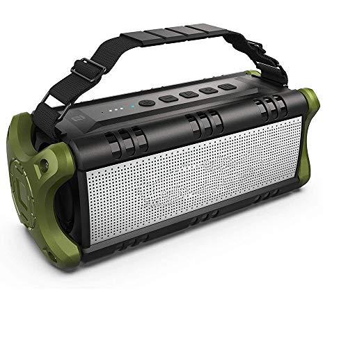 HBBOOI Bluetooth-Lautsprecher, beweglicher drahtloser Lautsprecher wasserdicht mit 24 Stunden Spielzeit, 8000mAh Batterieleistung-Bank - Verbesserte Leistungsstarke Bass, TWS-Subwoofer mit NFC for Inn