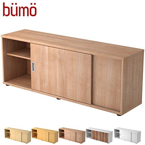 Hamerbacher Sideboard met schuifdeur | Office schuifdeurkast | voor ordner & opbergruimte voor materiaal kantoormeubilair | in 12 kleuren walnoot