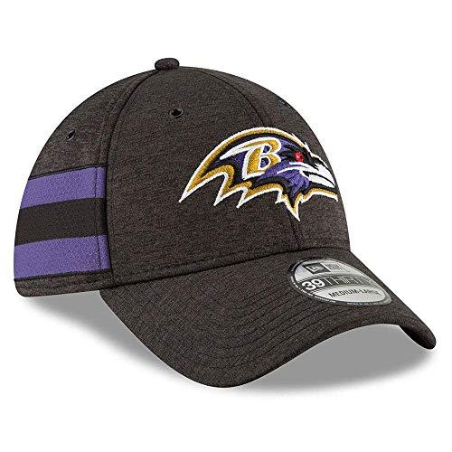 New Era NFL Baltimore Ravens Authentic 2018 Sideline 39THIRTY Stretch Fit Home Cap, Größe :M/L
