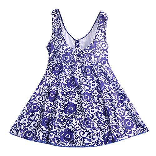 TUDUZ Tankinis MujerTrajes De Baño De Una Pieza Vestido De Talla Grande Vestido De Baño (Azul, XXXXXXL)