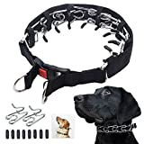 Mayerzon Dog Prong Training Collar, Dog Choke Pinch Collar with Comfort Tips and Quick Release Snap Buckle for Small Medium Large Dogs (Medium,3mm,19.7-Inch,14-18' Neck, Black)