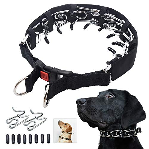 Mayerzon Dog Prong Training Collar, Dog Choke Pinch Collar with Comfort Tips and Quick Release Snap Buckle for Small…