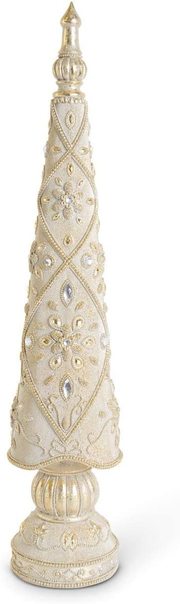 KK Interiors Gold 26 Inch Resin Antique Tree Jacksonville Mall Max 48% OFF Jeweled