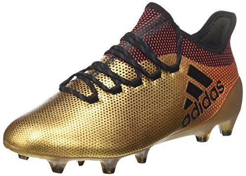 Adidas X 17.1 FG, Botas de fútbol Hombre, Amarillo (Ormetr/Negbas/Rojsol 000), 42 EU