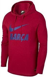 Nike 2018-2019 Barcelona Core Hooded Top (Red)