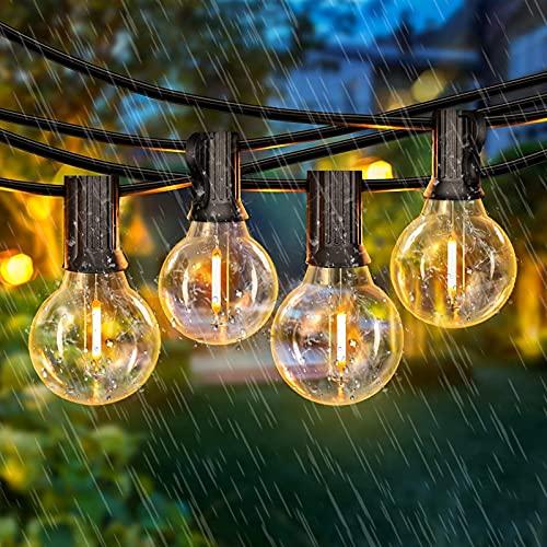 Lichterkette Außen - LEHXZJ 10,3M 25+5er G40 Glühbirnen LED Lichterkette mit Stecker IP65 Outdoor Lichterkette für Innen, Balkon, Garten,...