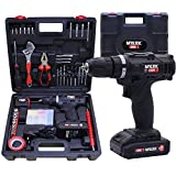 MYLEK Cordless Drill Set 18v Electric Driver DIY Combi Screwdriver Tool Kit, 1500mAh LiIon Battery, Variable Speed, LED Light, Lightweight Design, 90 Piece Accessory and Carry Case