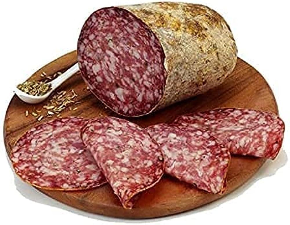 Finocchiona igp del buttero salumi gourmet 100% artigianali 500 gr carne italiana 100%