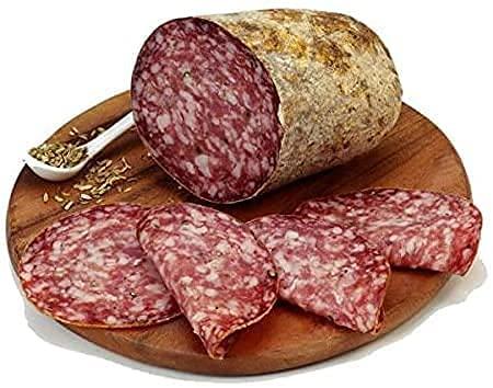 Finocchiona Igp Del Buttero 500gr | Gusto In Tasca Salumi Gourmet 100% Artigianali | Sapore e Gusto Unico | Ricetta Tradizionale | Specialità Toscana | Prodotti tipici