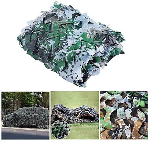 Red de camuflaje fácil anticámara, diseño de soldado de camuflaje con red de decoración de la selva para acampar al aire libre, protector solar, tela de camuflaje portátil (tamaño: 6 x 6 m)
