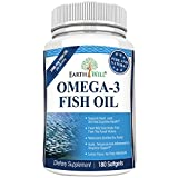 Earthwell Omega 3 Fish Oil Supplement Lemon Flavored – 180 Capsules