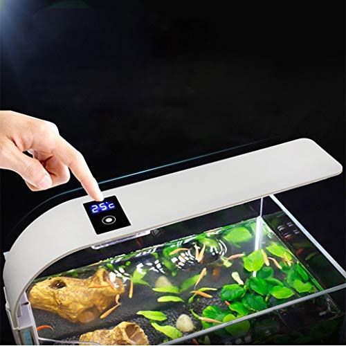 LED Aquarium licht, Clip-on Aquarium lamp met wit en blauw licht, 24LEDs vissen Tank verlichting armatuur voor aquarium, cisternen, stenen tuinen