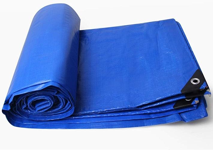 Sarazong Couverture de bache imperméable en Toile de bache imperméable à l'eau de bache de bache de bache Faite de 180 grammes mètre carré (Bleu + Rouge),5  5m