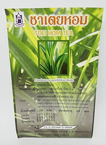 Toei HOM Tee - Pandan Kräuterteebeutel - Traditioneller thailändischer Tee für die Gesundheit