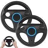 2Pack Mario Kart Racing Steering Wheels, TechKen Mario Kart Racing Wheel Compatible with Nintendo Wii, Mario Kart, Tank, more Wii or Wii U racing games