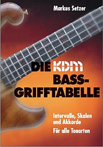 KDM Bass-Grifftabelle - Intervalle, Skalen und Akkorde für alle Tonarten: Intervalle, Skalen und Praxisakkorde für 4-/5-/6-Saiter