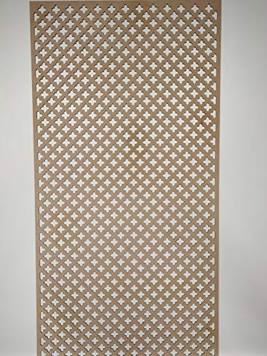 LaserKris, Heizkörperblende, dekoratives Sichtgitter, Kreuzform, perforierte MDF-Platte (4 x 2), KZ2