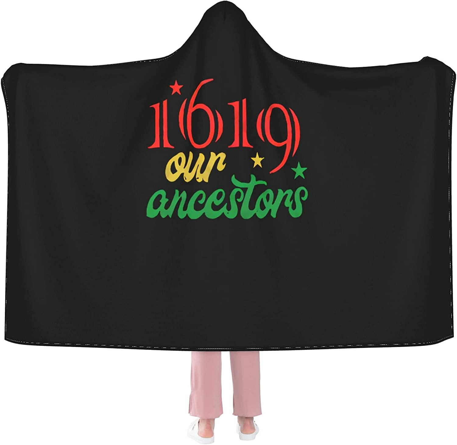 1619 Our Ancestors Direct sale of Award-winning store manufacturer Project Hooded Plush La Blanket Throw