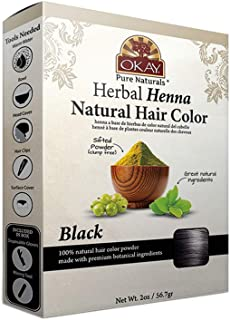 Okay herbal henna color, Black, 2 Ounce (Pack of 12)