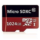 Tarjeta de memoria Micro SD de 256 GB / 400 GB / 512 GB / 1024 GB con adaptador gratuito, tarjeta SDXC clase 10 de alta velocidad (1024 GB)
