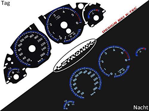 LETRONIX Plasma Tacho Tachoscheiben für Auto E38 E39 20-240Km/h 6000U/Min