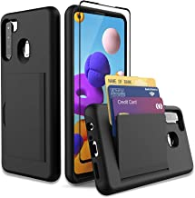 Leeyan for Moto G Fast Case with Tempered Glass Screen Protector,Dual Layer Smooth Hard Back Cover Wallet Pocket Credit Ca...