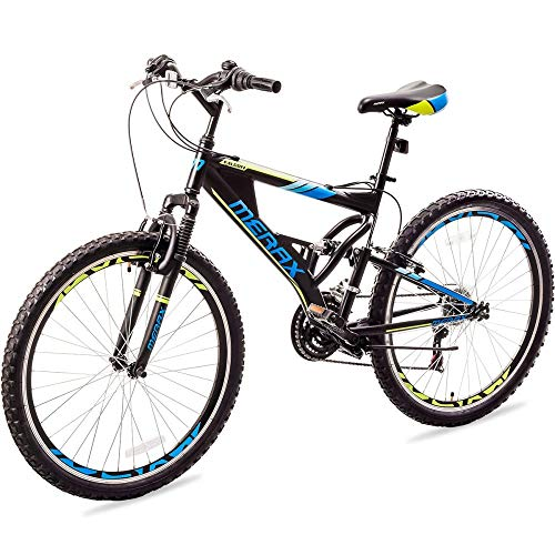 Famyfamy 26 Inch Mountain Bike, 21-Speed Aluminum Frame Bicycle with Full Suspension - High Timber Youth and Adult Mountain Bike Folding Bicycle Full Suspension MTB Bike for Men/Women